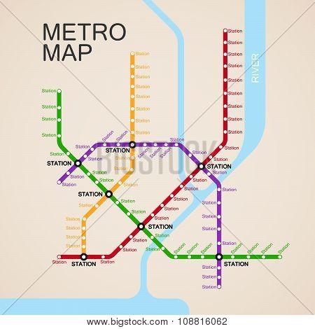 metro or subway map design
