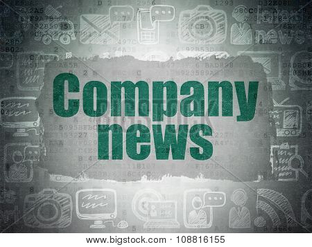 News concept: Company News on Digital Paper background