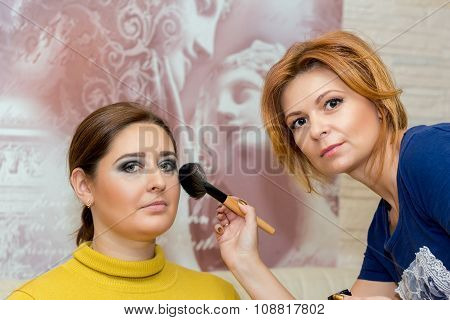 Beautiful Middle-aged Model, Which Is Applied Makeup.