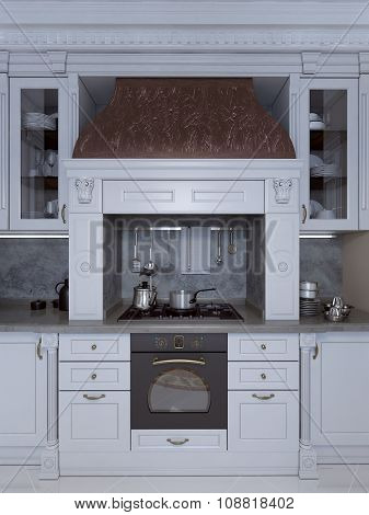 Luxury Kitchen In Classical Style