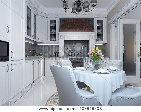 Kitchen Dining Classical Style