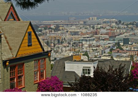View Of San Francisco From Hillside Houses