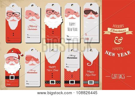 collection of cute ready to use christmas gift tags