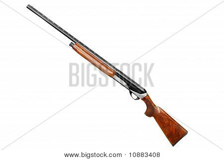 hunting shotgun isolated on white