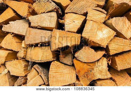 Ecological Wood, Wooden Pattern Texture - Stack Of Wood Abstract Photo