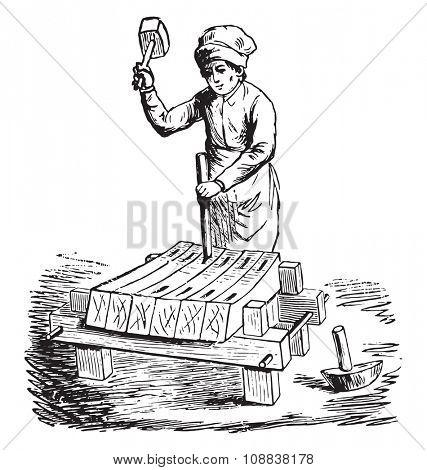 Fac simile of an engraving of the Encyclopedia, vintage engraved illustration. Industrial encyclopedia E.-O. Lami - 1875.