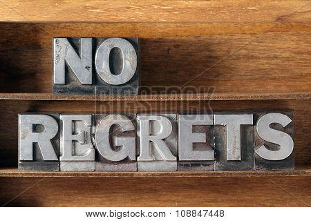 No Regrets Tray