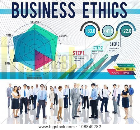 Business Ethics Integrity Moral Responsibiliy Honest Concept poster