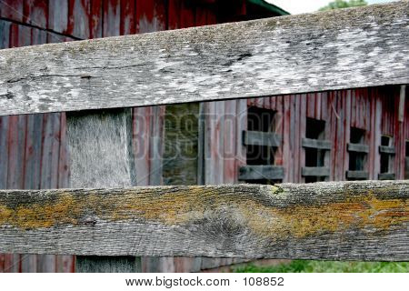 Weathered Wood In Layers