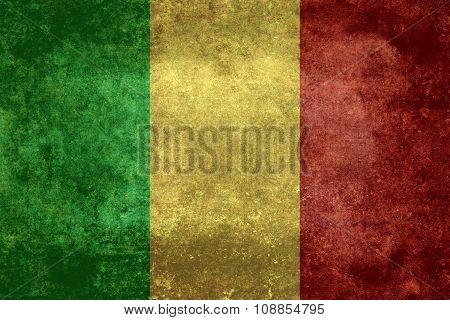 Mali national flag, distressed version