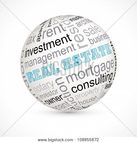 Real Estate Theme Sphere With Keywords
