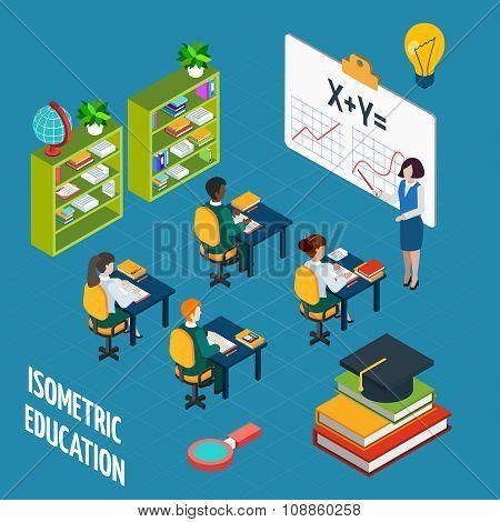 School Education  Isometric Concept