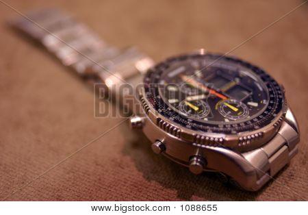 Silver Chronograph Watch
