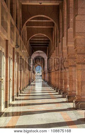 Arches Of Ancient Porch In Saudi Arabia