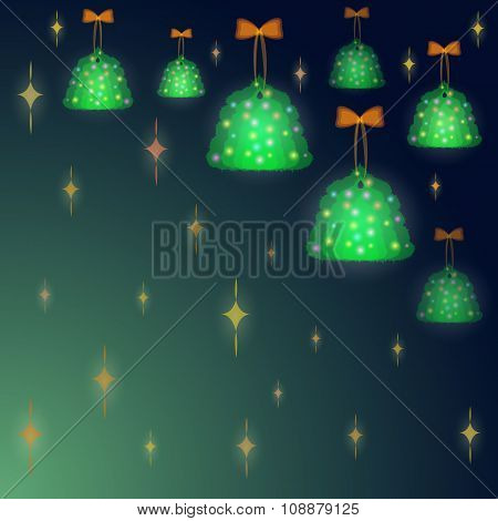 Background With Christmas Trees