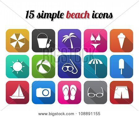 Summer beach icon modern design style