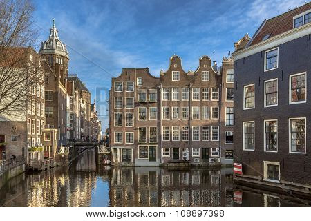 Canal Houses From Armbrug Amsterdam