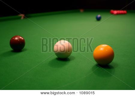 Snooker Table Set Up To Break