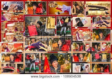 Christmas Sales Pictures Collage