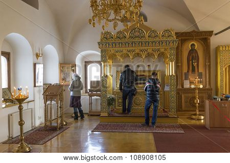 Suzdal, Russia -06.11.2015. The relics of St. Sophia of Suzdal - the wife Ivan Grozny - in Zachatiev