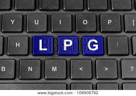 Lpg Or Liquefied Petroleum Gas On Keyboard
