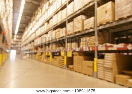 Defocused Image Of Warehouse