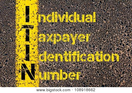 Business Acronym Itin As Individual Taxpayer Identification Number