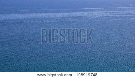 expanse of blue water choppy sea as background