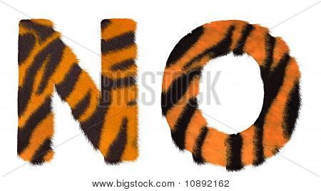 Tiger Fell N And O Letters Isolated