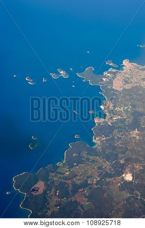 Aerial view of Croatia and adriatic sea poster