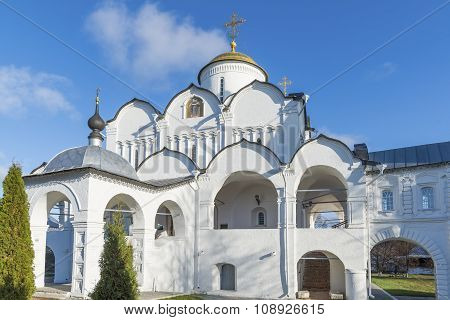 Cathedral at St. Pokrovsky Monastery was built  16th century in Suzdal. Golden Ring Travel of Russia
