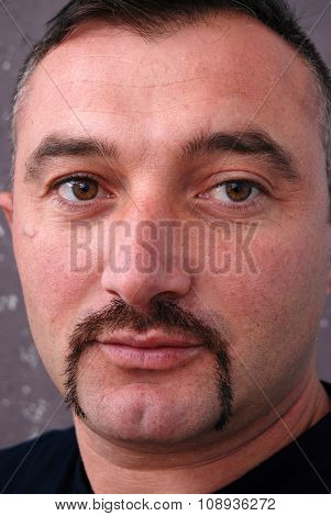 Portrait  Of A Man With Mustaches