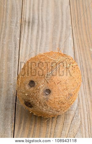 Whole Coconut On Table
