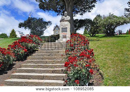 Monument Of Primo Capraro In San Carlos De Bariloche