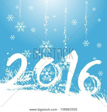 christmas 2016 design with red background