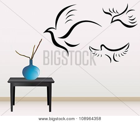 wall decoration with sticker