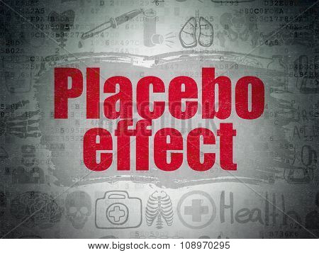 Healthcare concept: Placebo Effect on Digital Paper background