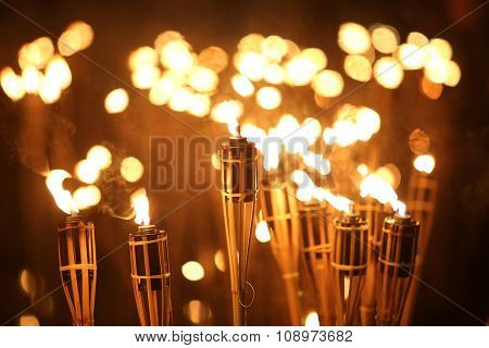 Torches At Night