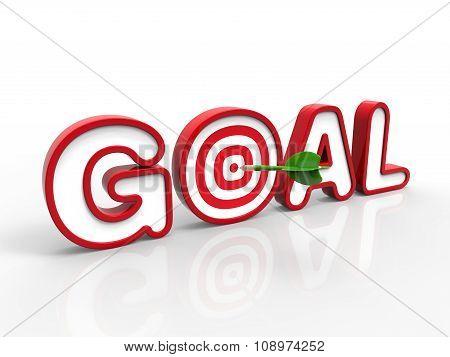 Dart Hitting The Goal, Success Concept