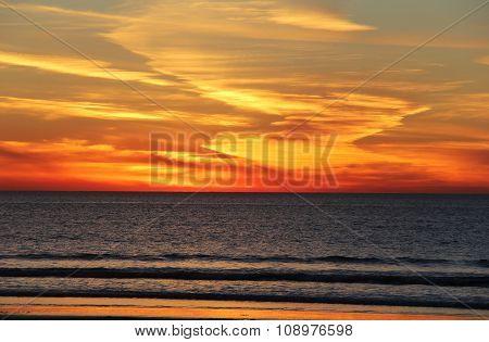 Blazing California Pacific Sunset