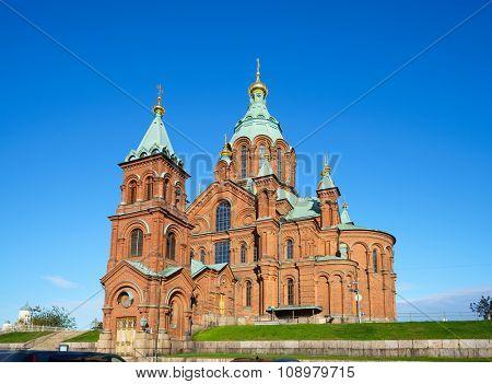 Uspenski Cathedral in Helsinki, Finland poster