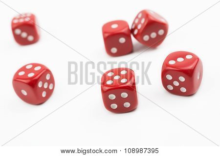 Six Dices Besides In A White Box #1