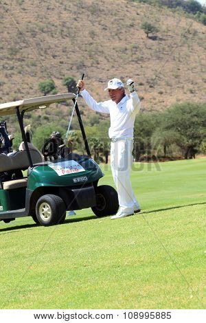 Tournament Presenter And Grand Master Gary Player After The Perfect Drop Shop At The 18Th On Novembe