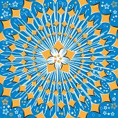 A star explodes in an abstract background vector illustration of the illusory motion variety. poster