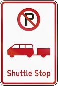 New Zealand road sign - Shuttle stop. poster