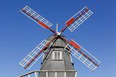 Frederikshab windmill park near Vejle in Denmark poster