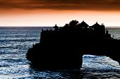 The temple of Tanah Lot in Bali indonesia on Sunset poster