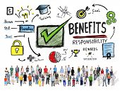 Benefits Gain Profit Earning Income Diversity People Concept poster