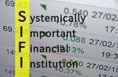 Acronym SIFI as Systemically important financial institution poster