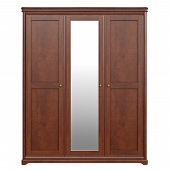 Cabinet wardrobe, front view. 3D graphic isolated object on white background poster